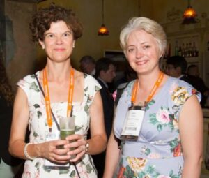 Katie Oliver and Julia House at INTA