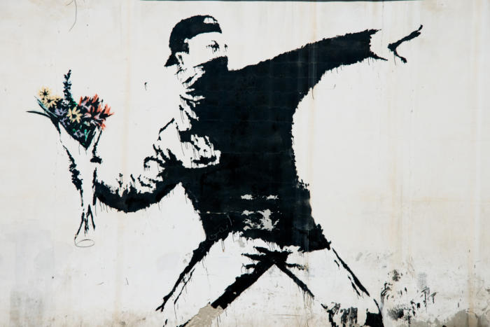 Banksy: The Flower Thrower