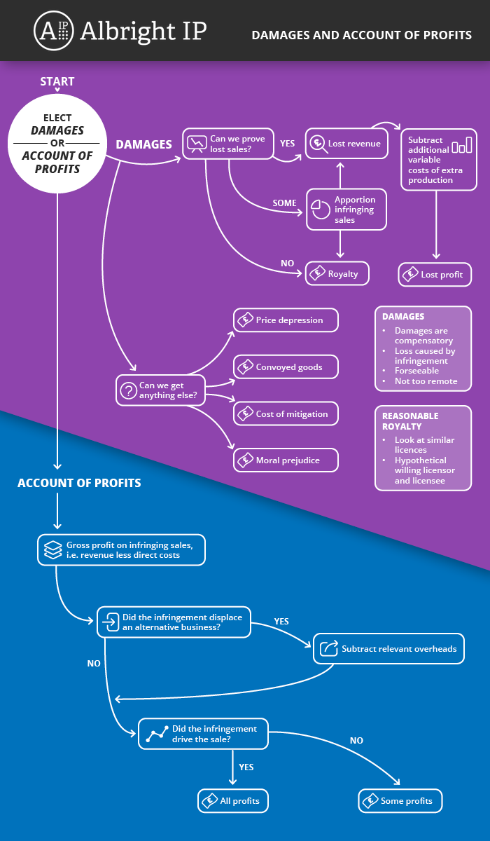 Damages for IP Infringement - Infographic