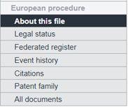EPO Legal Status